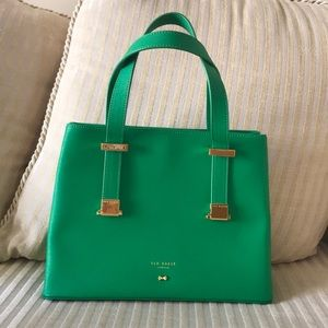 Original Ted Baker Green Leather Handbag